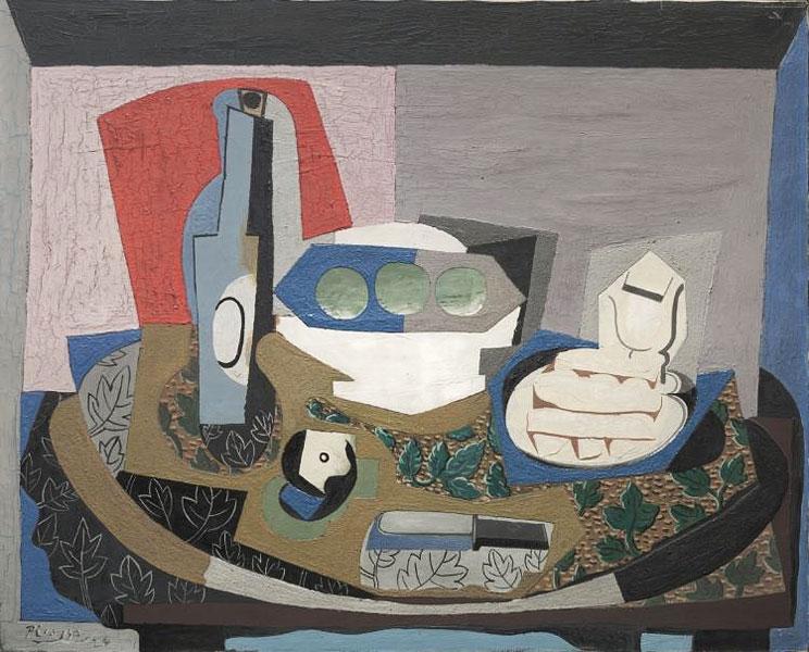 Картина Пабло Пикассо. Натюрморт с бисквитом. 1924