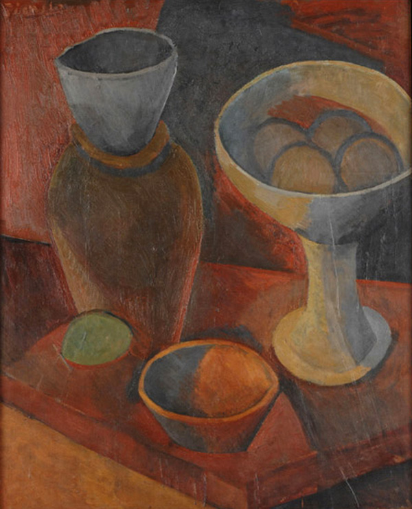Картина Пабло Пикассо. Натюрморт с чашей и кувшином. 1908