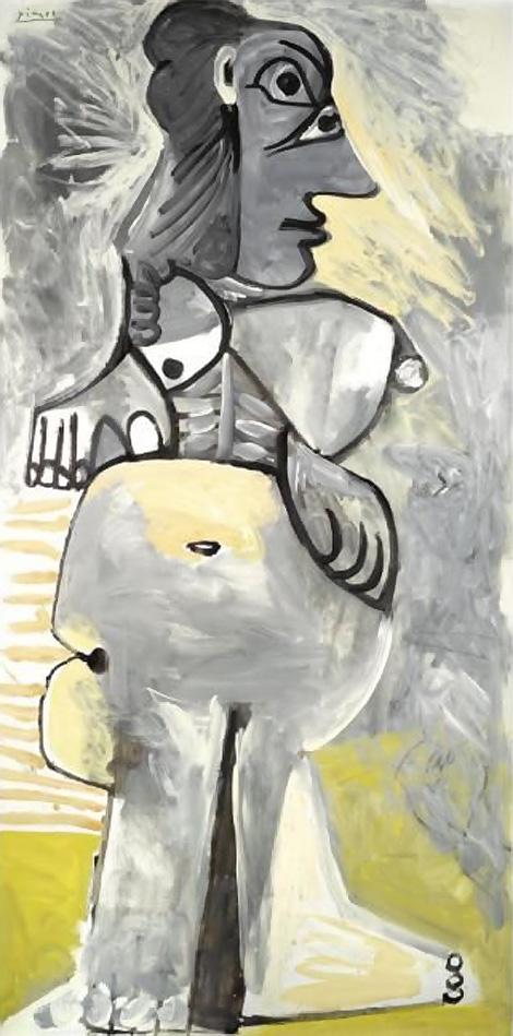 Картина Пабло Пикассо. Стоящая обнаженная. 1968 ($7,1 млн)