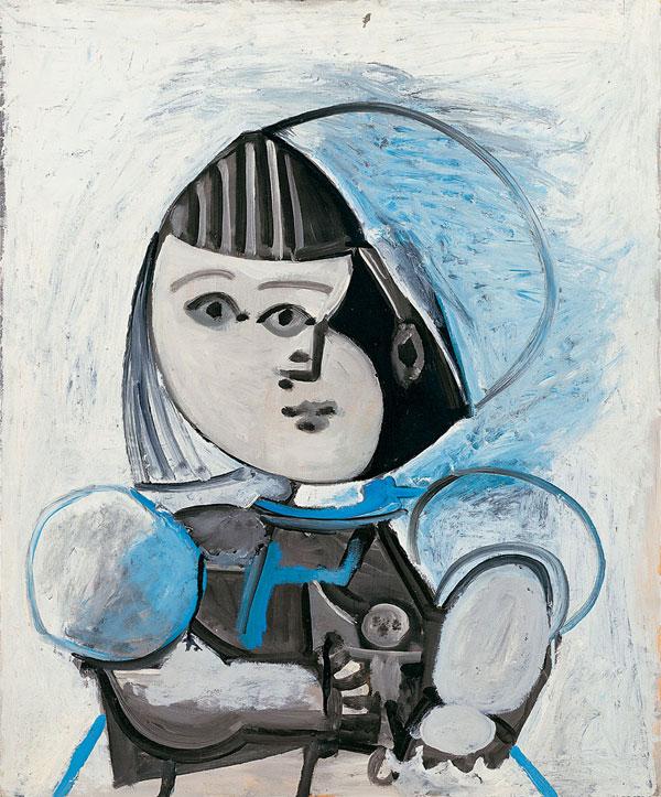 Картина Пабло Пикассо. Палома с куклой. 1952