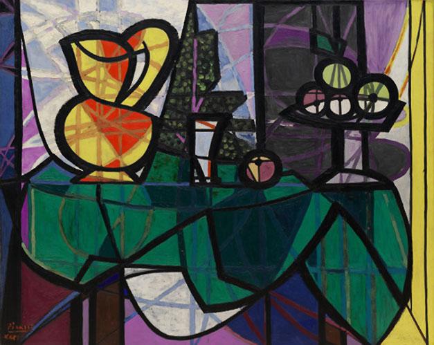 Картина Пабло Пикассо. Кувшин и ваза с фруктами. 1931