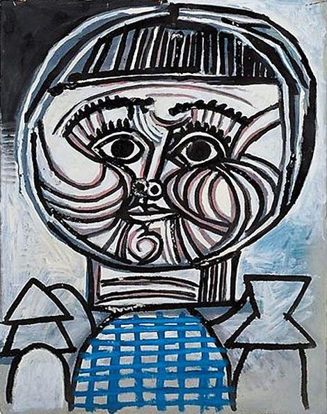 Картина Пабло Пикассо. Портрет ребенка: Палома. 1952