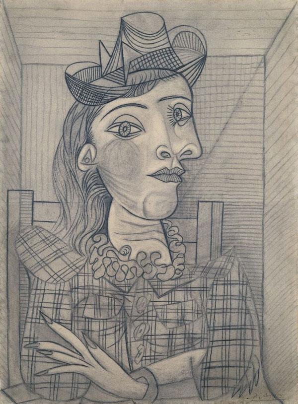 Картина Пабло Пикассо. Портрет Доры Маар. 1938