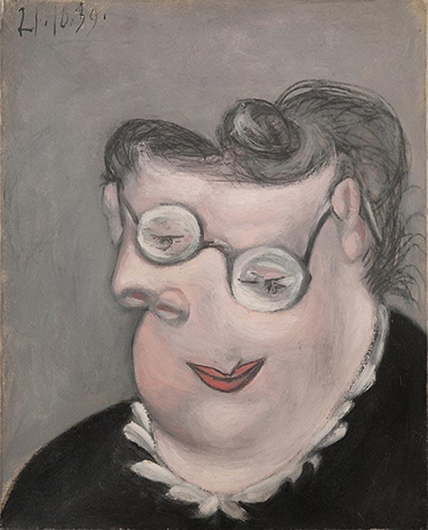 Картина Пабло Пикассо. Портрет Эмили Маргарет Вальтер. 1939