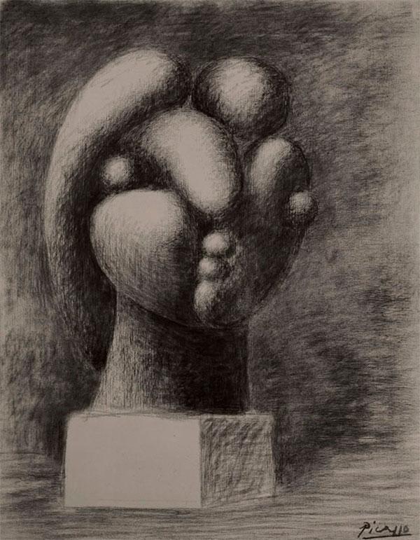 Картина Пабло Пикассо. Скульптура головы (Мария-Тереза). 1932