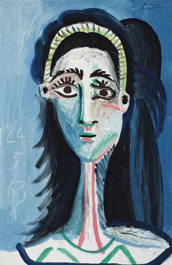 Картина Пабло Пикассо. Голова женщины (Жаклин). 1963 ($12,9 млн)