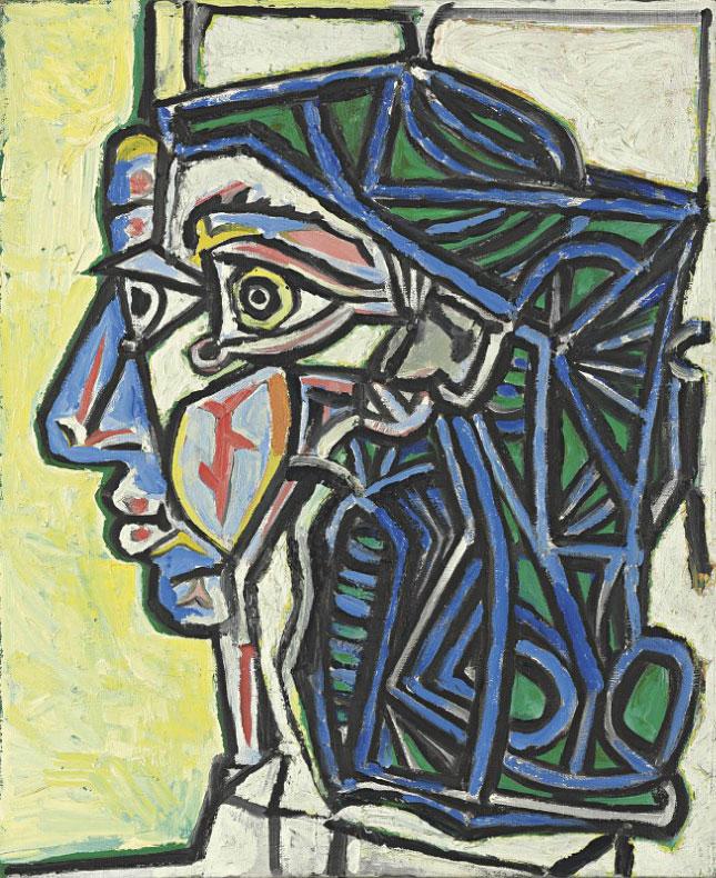 Картина Пабло Пикассо. Голова женщины. 1952 ($5,2 млн)
