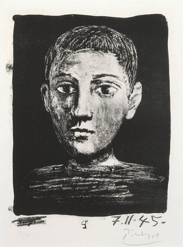 Картина Пабло Пикассо. Голова мальчика. 1945
