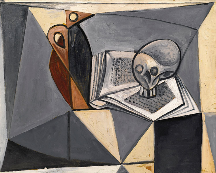 Картина Пабло Пикассо. Череп и книга. 1946 ($2,1 млн)