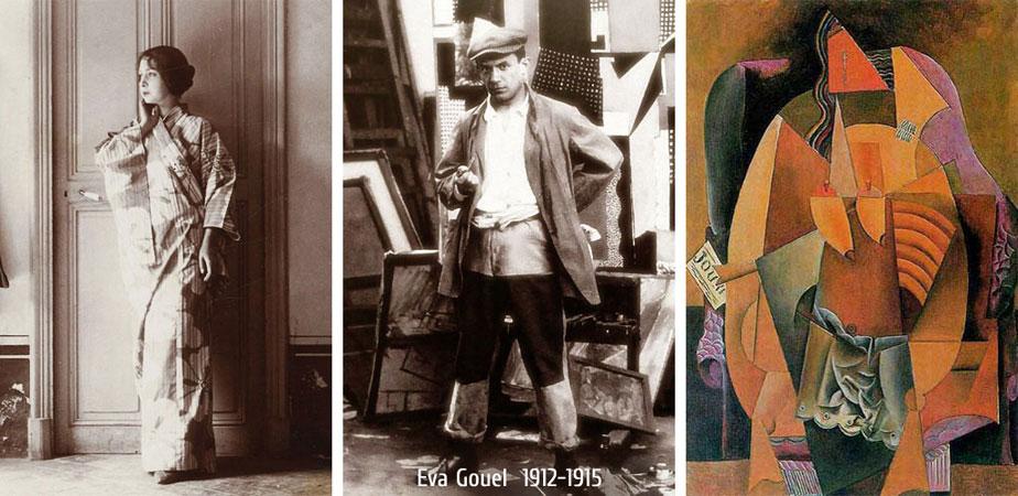 Ева Гуэль / Марсель Умбер (1912-1915), в фотографиях и картинах Пабло Пикассо