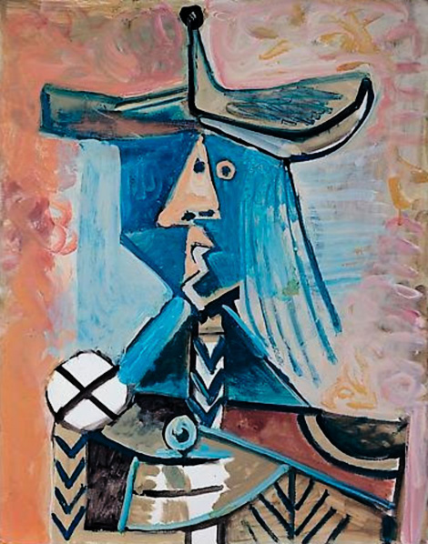 Картина Пабло Пикассо. Персонаж. 1971