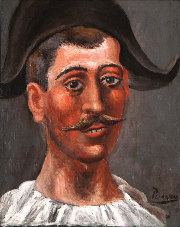 Картина Пабло Пикассо. Арлекин в треуголке. 1917