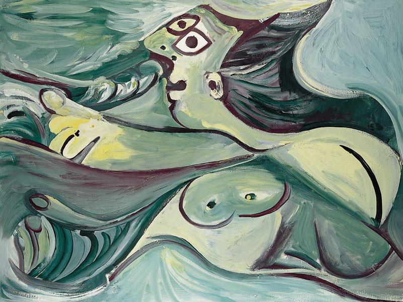 Картина Пабло Пикассо. Купальщица. 1971