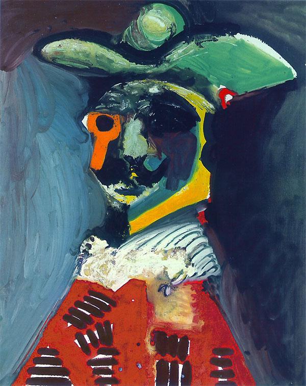Картина Пабло Пикассо. Бюст мужчины. 1970