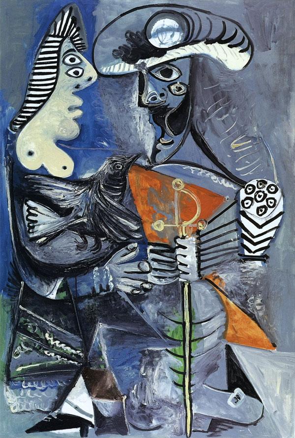 Картина Пабло Пикассо. Пара. 1970