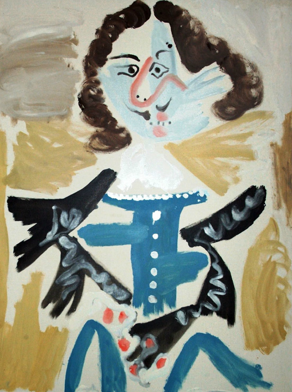 Картина Пабло Пикассо. Мушкетер. 1967