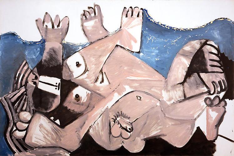 Картина Пабло Пикассо. Объятия. 1972