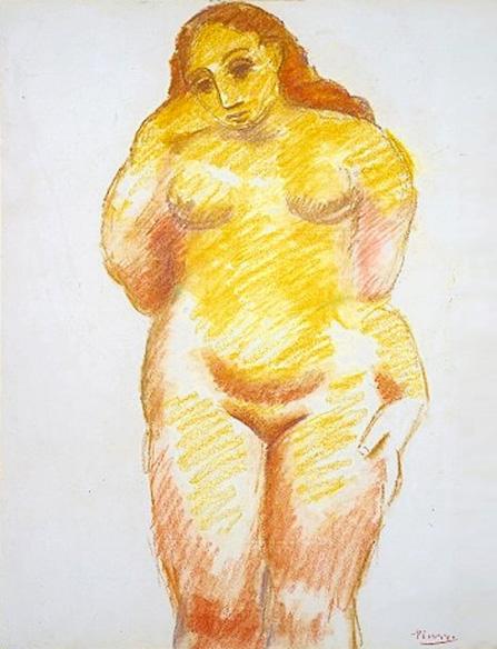 Картина Пабло Пикассо. Стоящая обнаженная. 1906
