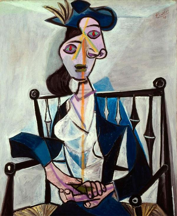 Картина Пабло Пикассо. Женщина, сидящая в кресле (Дора Маар). 1941