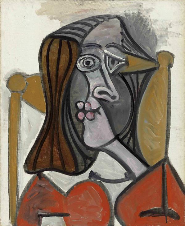 Картина Пабло Пикассо. Женщина в кресле. 1949 ($7,5 млн)