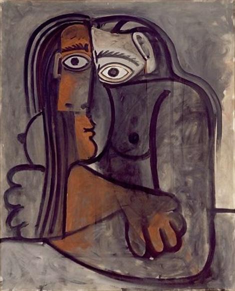 Картина Пабло Пикассо. Женщина со скрещенными руками. 1960
