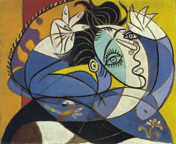 Картина Пабло Пикассо. Женщина с поднятыми руками. 1936
