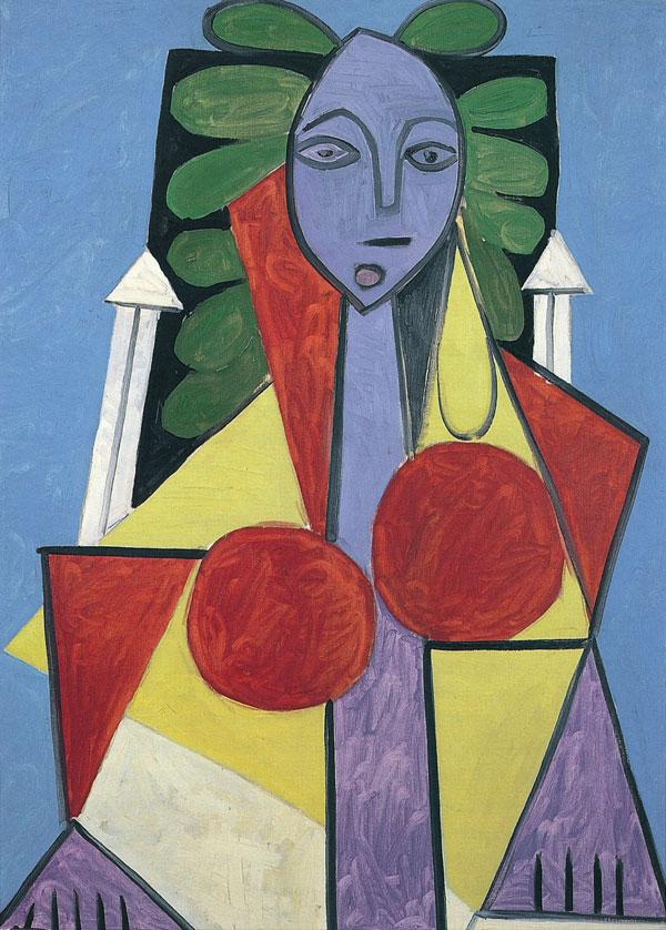 Картина Пабло Пикассо. Женщина в кресле (Франсуаза Жило). 1946