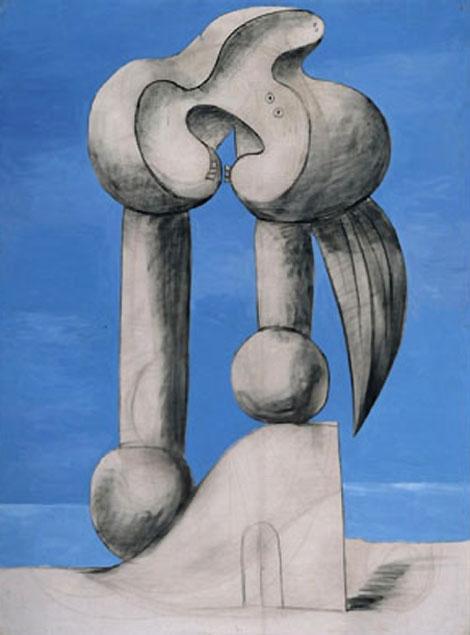 Картина Пабло Пикассо. Фигуры у моря. 1932