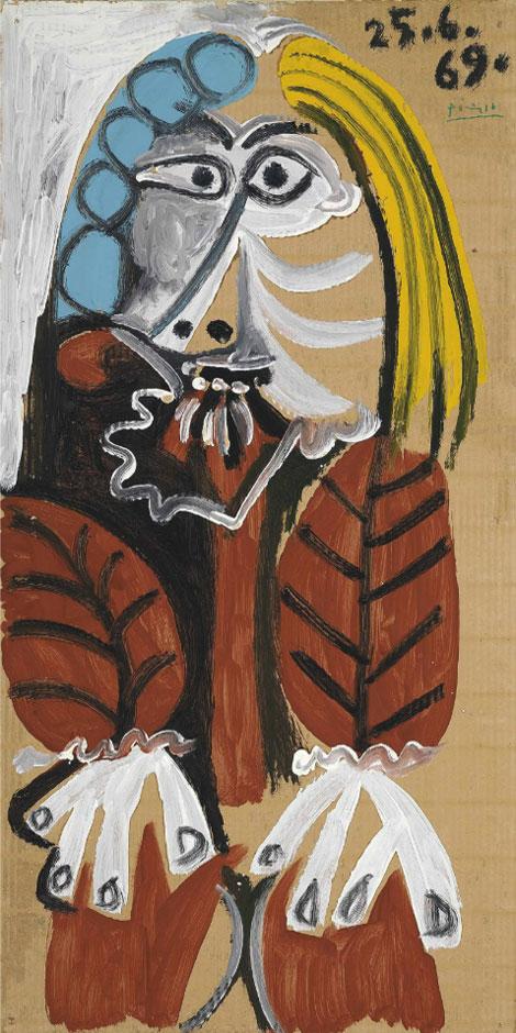 Картина Пабло Пикассо. Сидящий человек. 1969