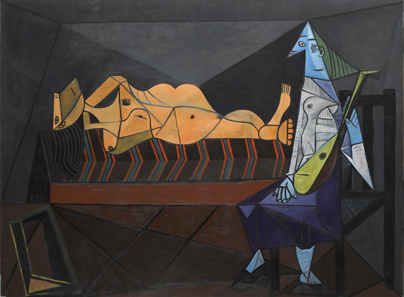 Картина Пабло Пикассо. Серенада. 1942