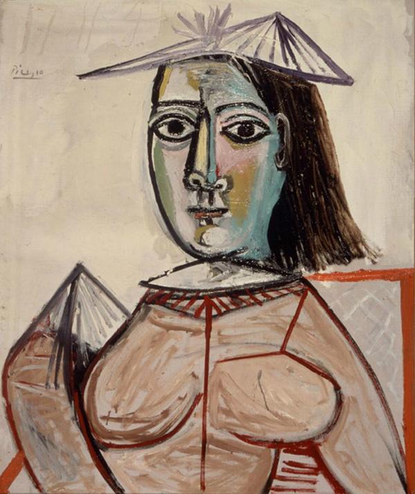 Картина Пабло Пикассо. Женщина с черными глазами (Дора Маар). 1941-1943