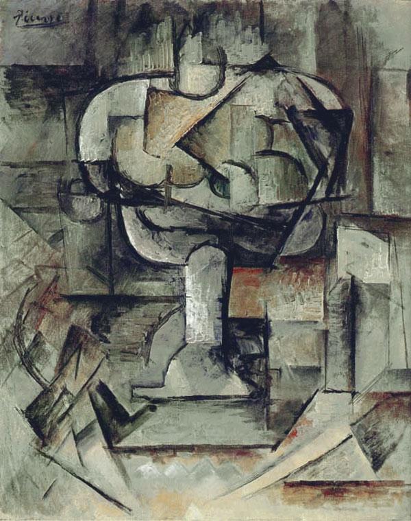 Картина Пабло Пикассо. Блюдо с фруктами. 1910