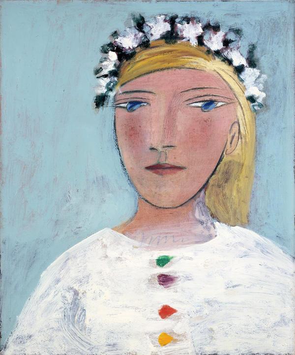 Картина Пабло Пикассо. Мария-Тереза в венке. 1937