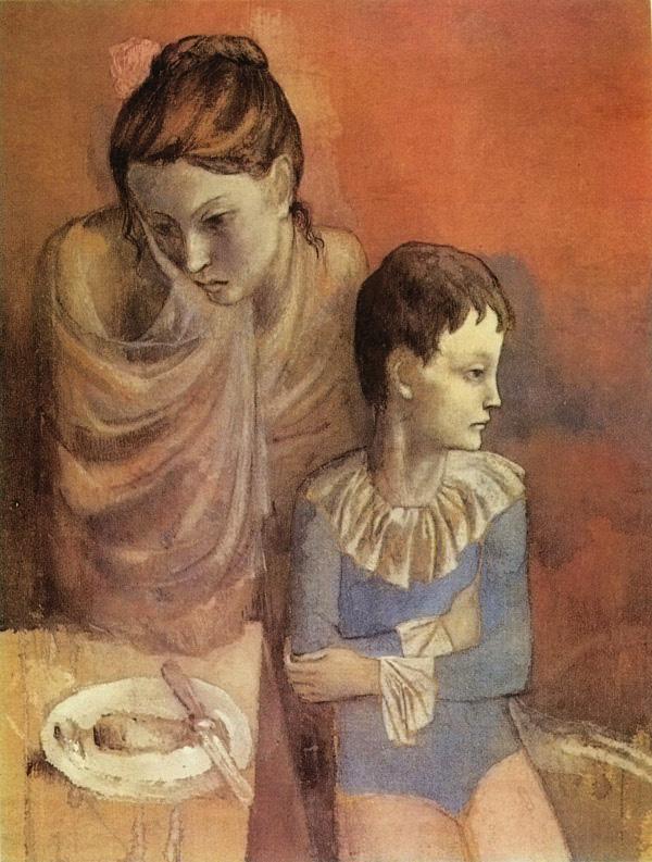 Картина Пабло Пикассо. Мать и дитя (Акробаты). 1905