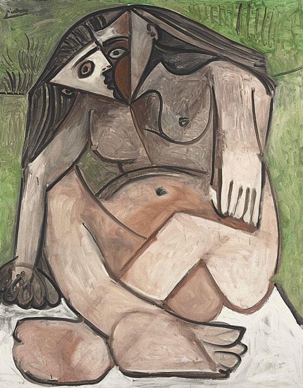 Картина Пабло Пикассо. Скорчившаяся обнаженная (Обнаженная на корточках). 1960 ($11,5 млн)