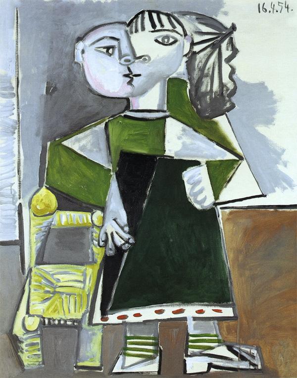 Картина Пабло Пикассо. Стоящая Палома. 1954