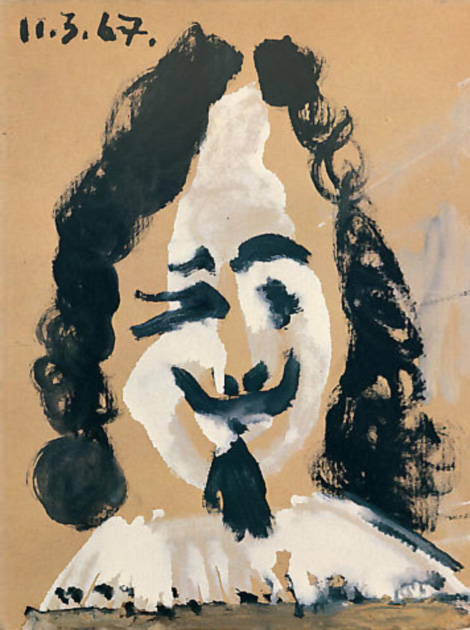 Картина Пабло Пикассо. Портрет человека 17 века. 1967