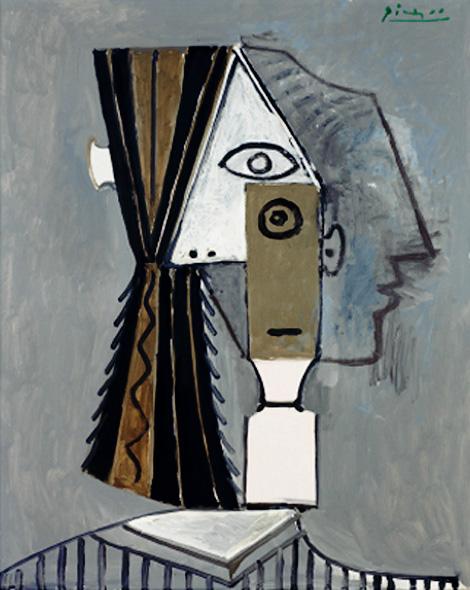 Картина Пабло Пикассо. Голова женщины. 1957