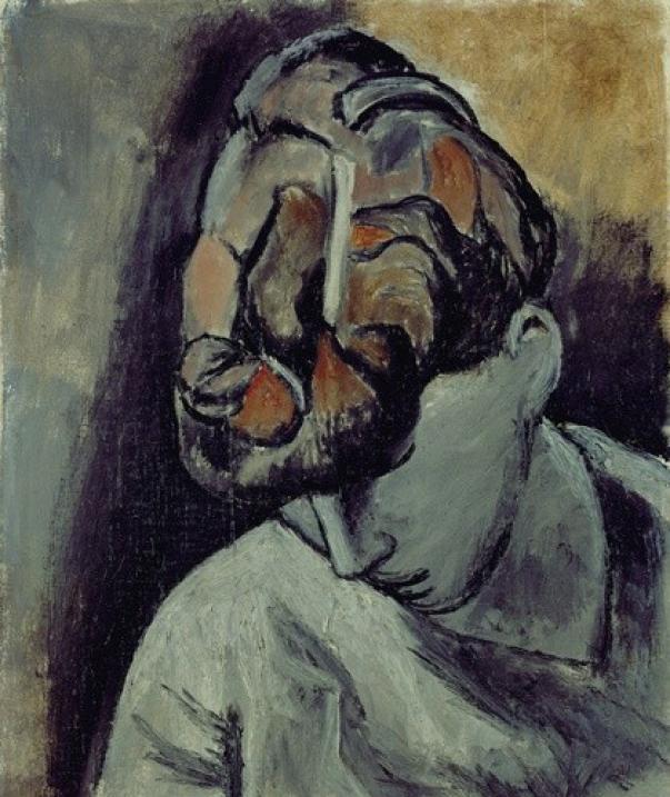 Картина Пабло Пикассо. Женщина со склоненной головой. 1906