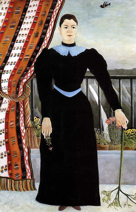 Henri-Rousseau_Portrait-Of-A-Woman_1895