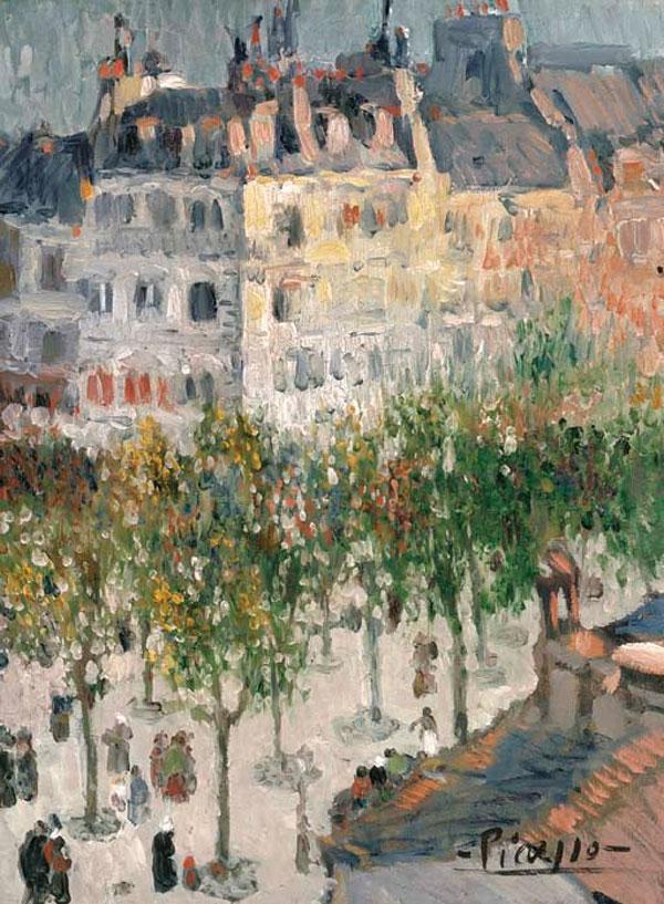 Картина Пабло Пикассо. Бульвар Клиши. 1901 ($1,7 млн)