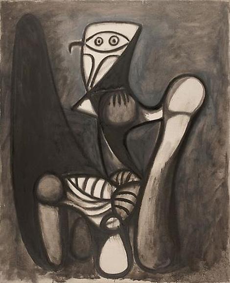 Картина Пабло Пикассо. Сова на стуле. 1947
