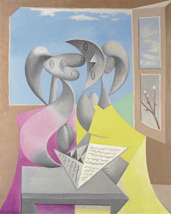 Картина Пабло Пикассо. Два персонажа (Мари-Терез и ее сестра за чтением). 1934 ($18,0 млн)