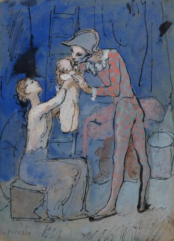 Картина Пабло Пикассо. Семья арлекина. 1905 ($9,8 млн)