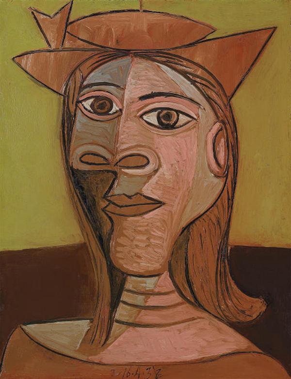 Картина Пабло Пикассо. Женщина в шляпе. 1938 ($11,3 млн)