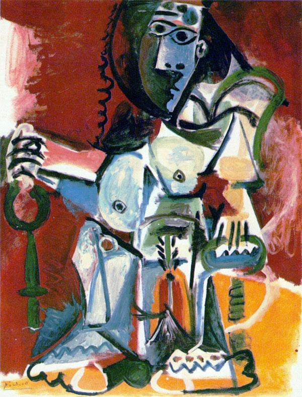 Картина Пабло Пикассо. Сидящая обнаженная. 1965 ($8,1 млн)