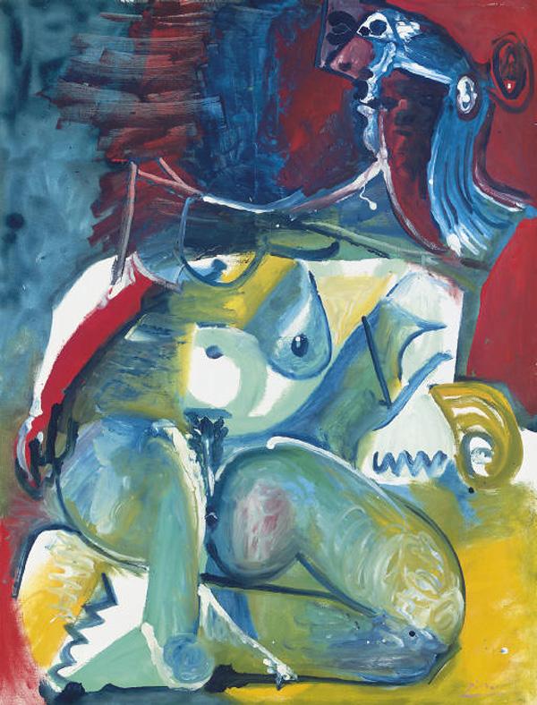 Картина Пабло Пикассо. Обнаженная женщина. 1965 ($6,0 млн)