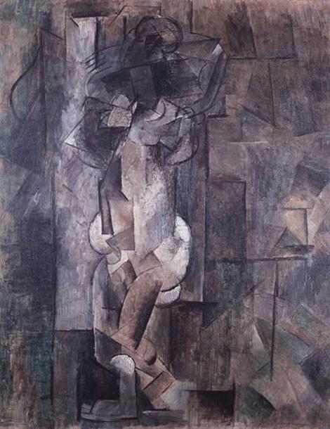 Картина Пабло Пикассо. Обнаженная фигура. 1909-1910