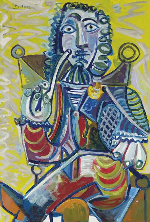 Картина Пабло Пикассо. Человек с трубкой. 1968 ($16,8 млн)