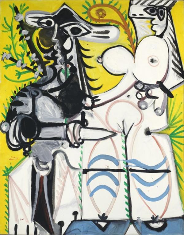 Картина Пабло Пикассо. Мужчина и женщина. 1969